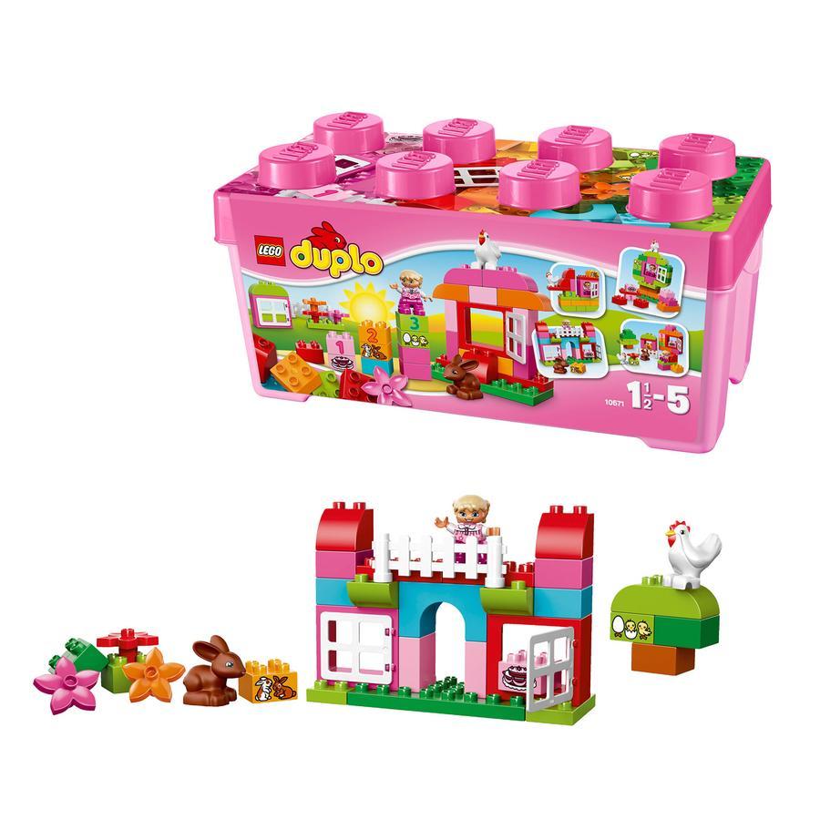 LEGO® DUPLO® Duży zestaw z różowymi klockami 10571