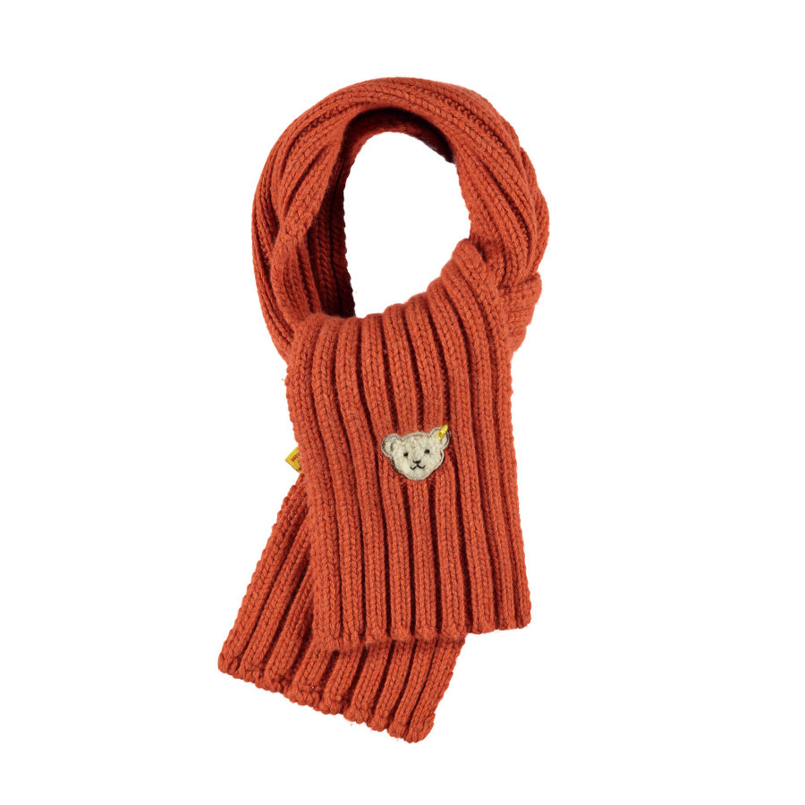 Steiff Boys Foulard tricoté, orange