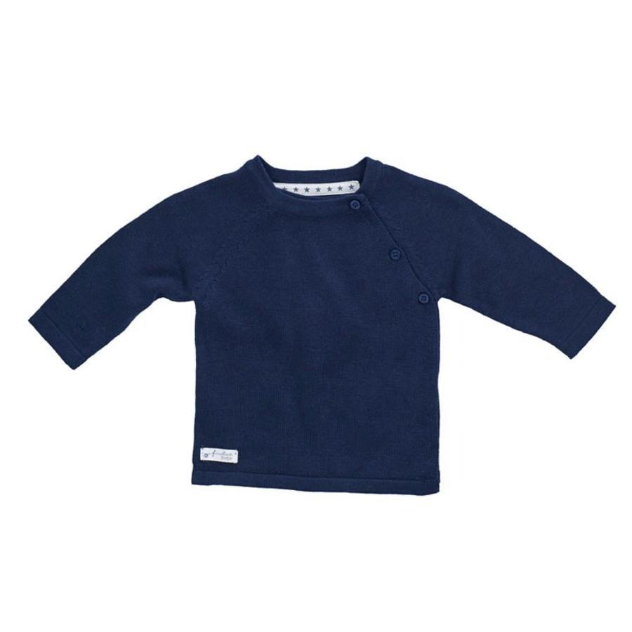 Feetje maglione a maglia blu scuro