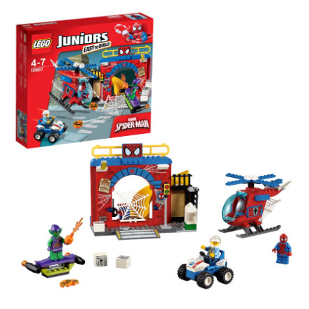 LEGO® JUNIORS - Kryjówka Spidermana 10687