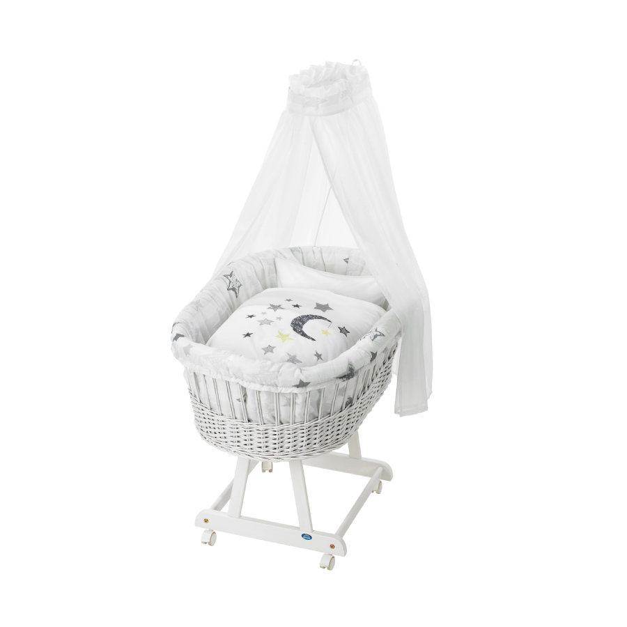 ALVI Berceau complet Birthe, blanc, 786-9 Silver Star