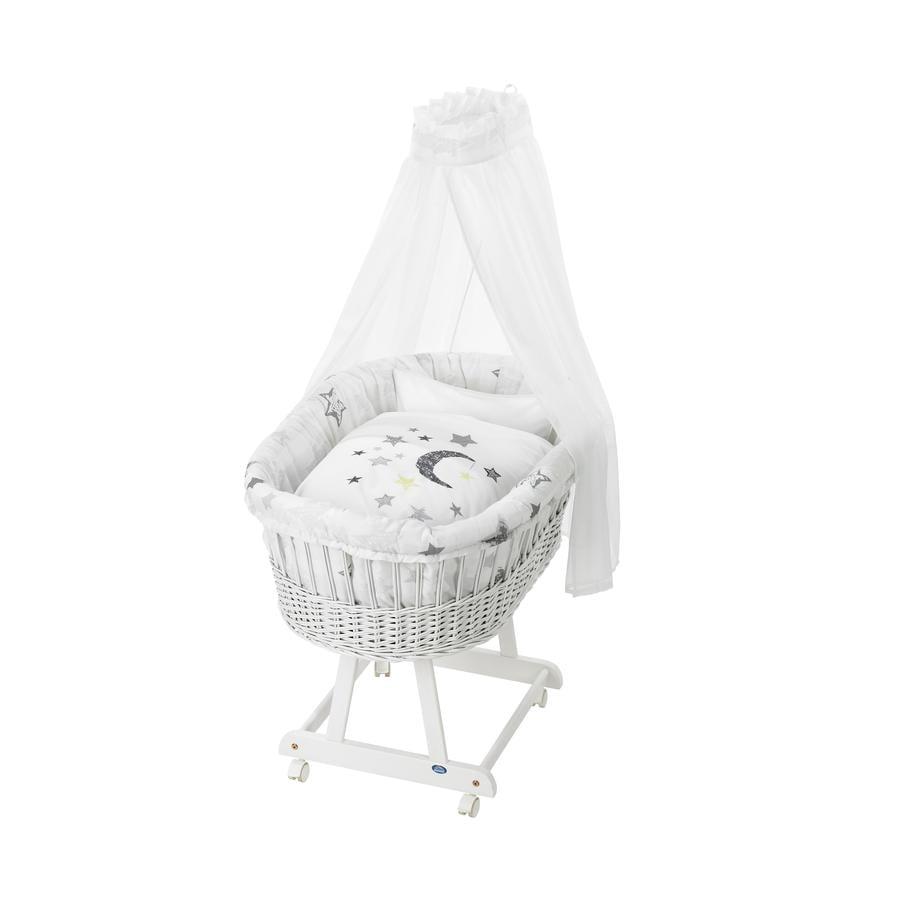 Alvi® Komplettstubenwagen Birthe weiß 786-9 Silver Star