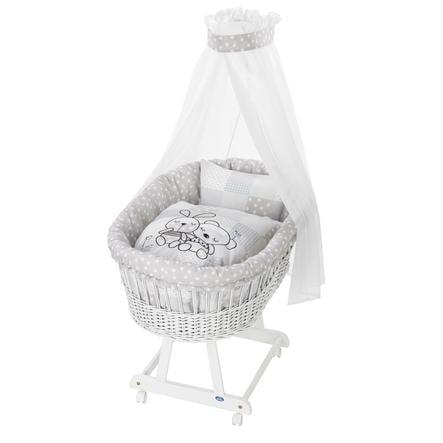Alvi® Berceau complet Birthe blanc 721-9 lapin