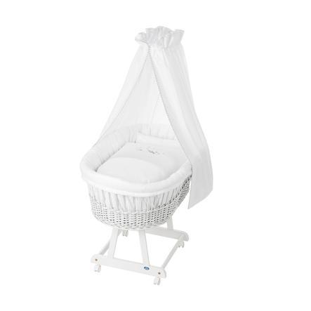 Alvi® Berceau bébé complet Birthe blanc, 757-0 mouton rêveur