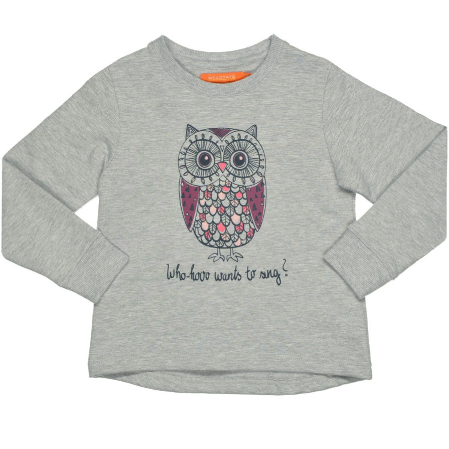 STACCATO Girls Sweatshirt light grey melange