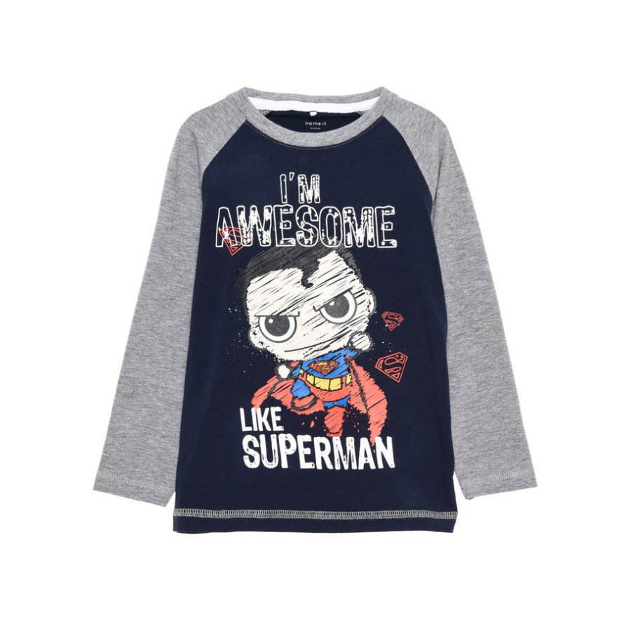 name it Boys Longsleeve Superhero dress blues