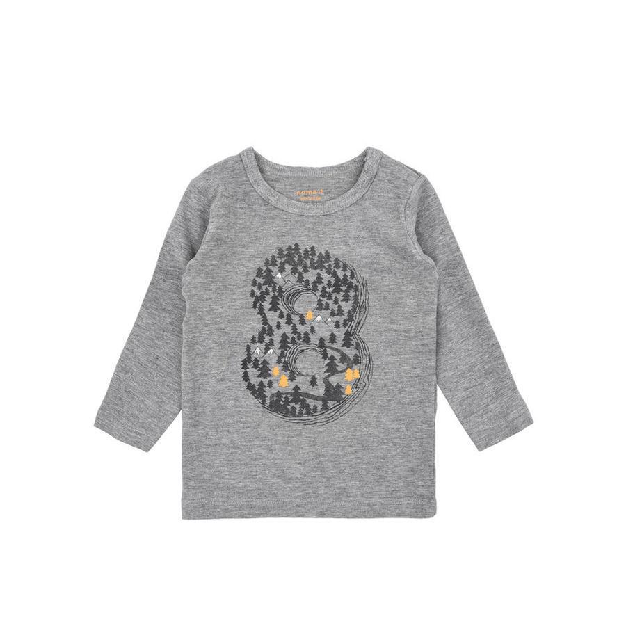 name it Chlapecké tričko s dlouhým rukávem Tree grey melange