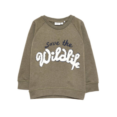 name it Boys Sweatshirt Save ivy green