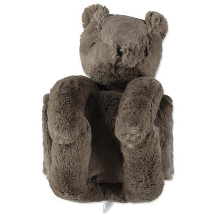 LITTLE Kuscheldecke mit Teddy-Bär braun