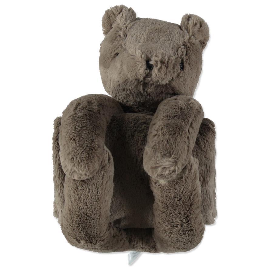 LITTLE  Couverture avec Teddy ours brun