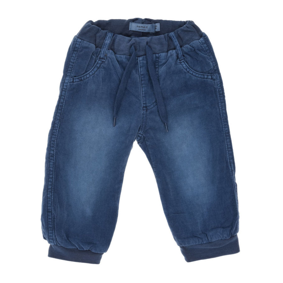 name it Boys Cordhose Mikkel dark denim