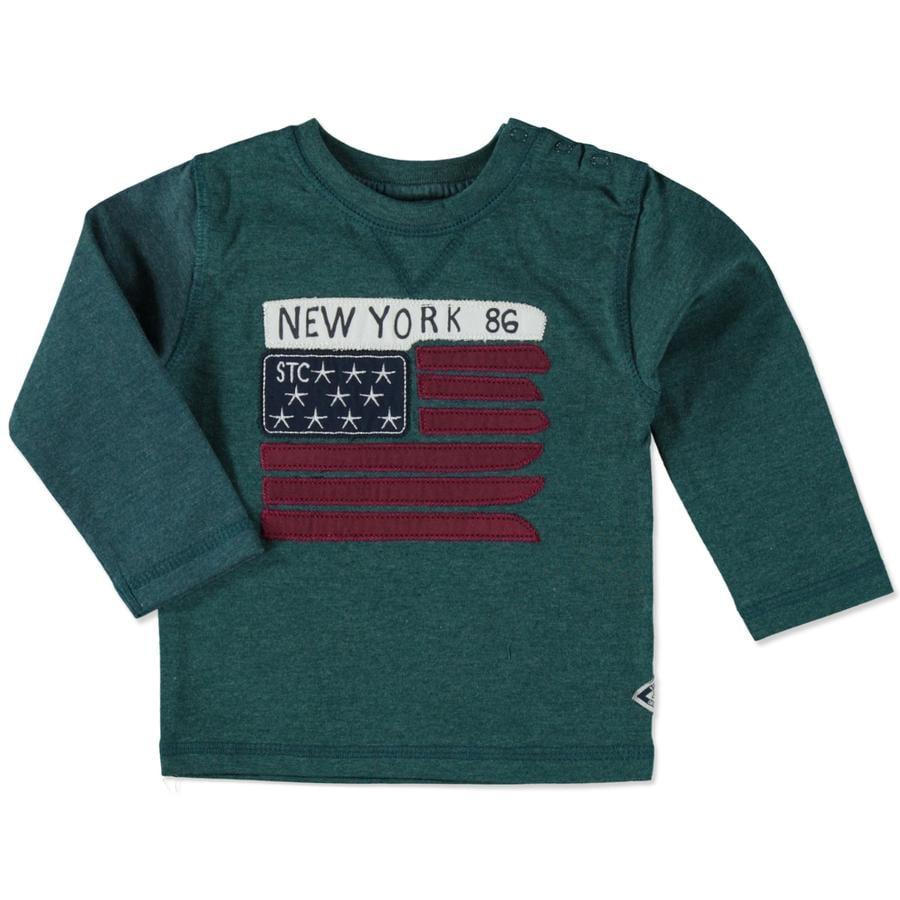 STACCATO Shirt dark green melange