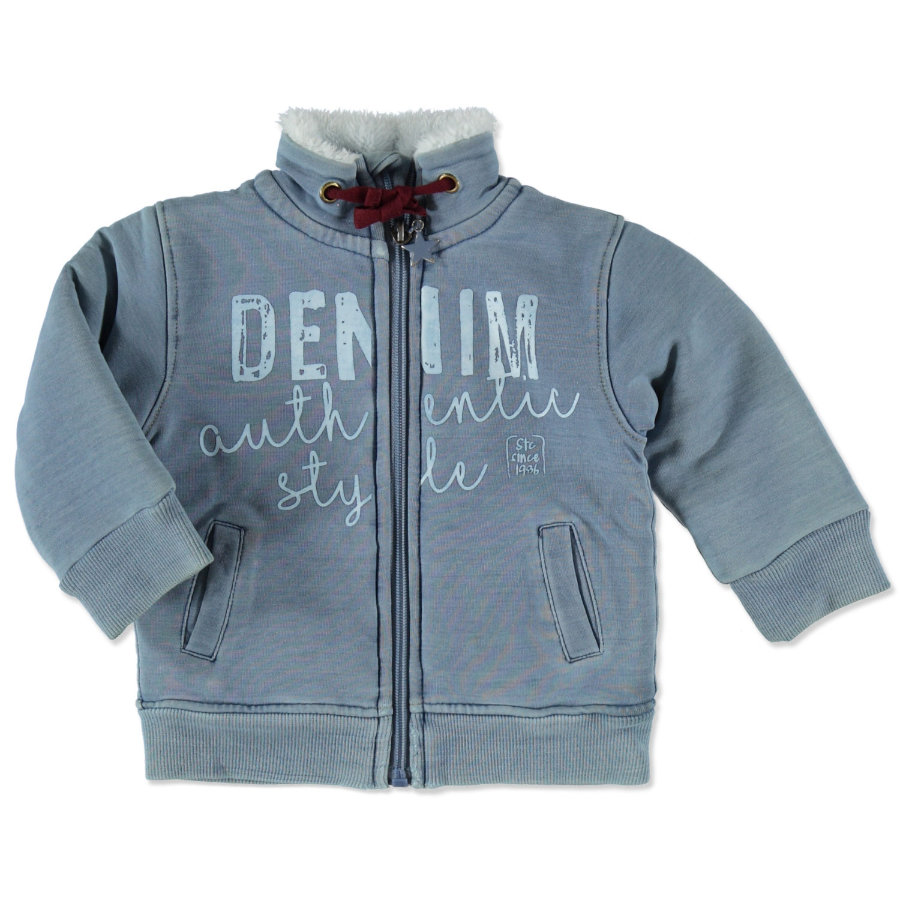 STACCATO Boys Sweatjacke jeans blue structure