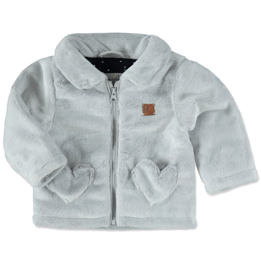 STACCATO Girls Plüschjacke light grey melange