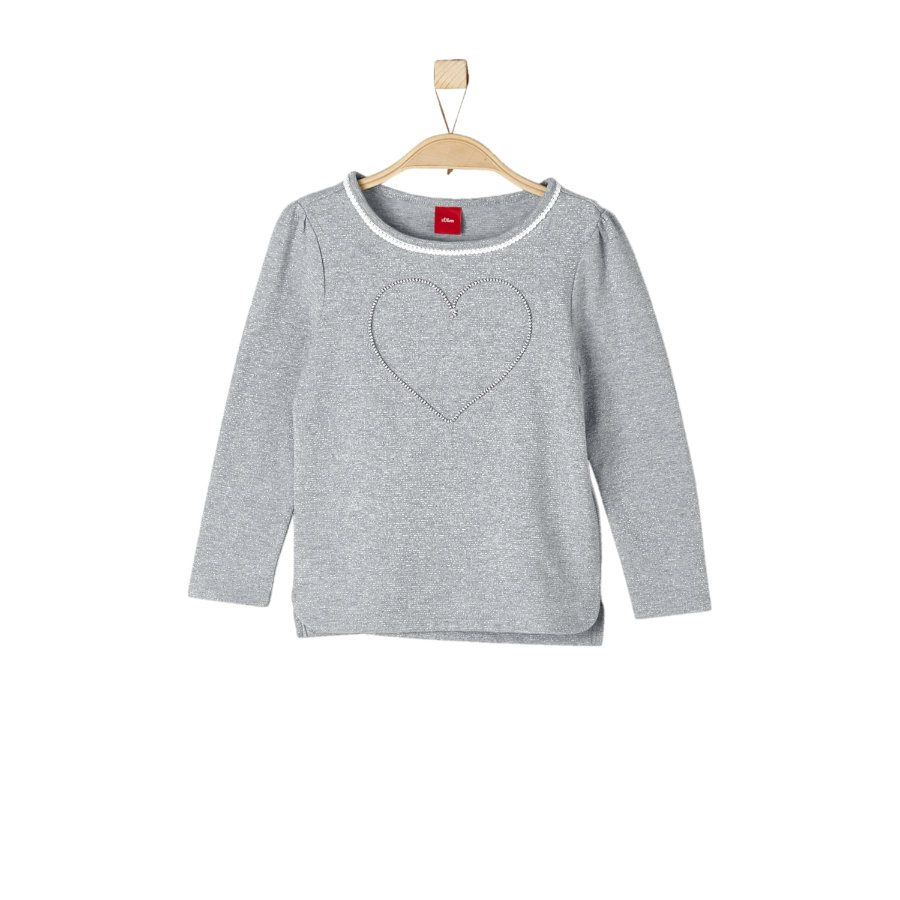 s.Oliver Girls Longsleeve grey stripes