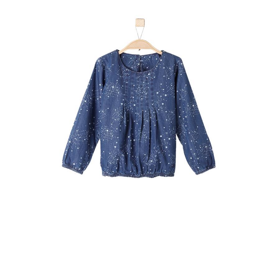 s.Oliver Girl s blusa vaquera azul mélange