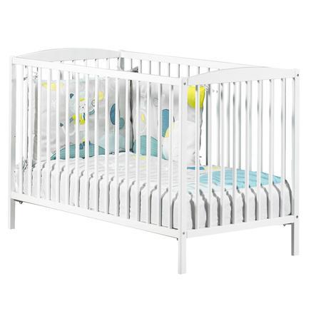 Baby Price Lit bébé à barreaux New Basic, 3 positions, 60 x 120 cm, blanc