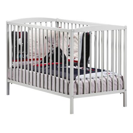 Baby Price Lit bébé à barreaux New Basic, 3 positions, 60 x 120 cm, gris