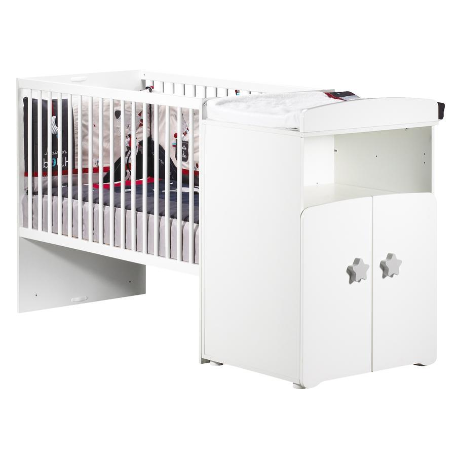 Baby Price Lit bébé combiné évolutif New Basic 120 x 60 cm en 90 x 190 cm