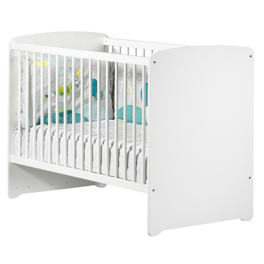 BABY PRICE Lit bébé New Basic, 3 positions, 60 x 120 cm, blanc