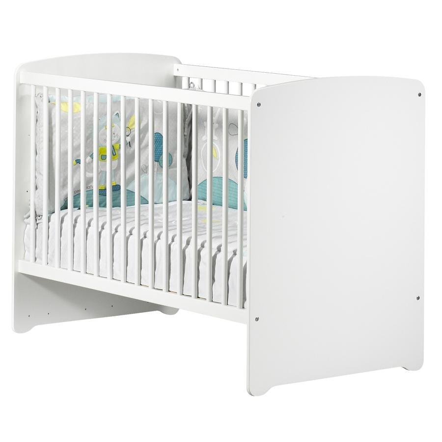 Baby Price Lit enfant à barreaux New Basic, 3 positions, 60x120 cm, blanc