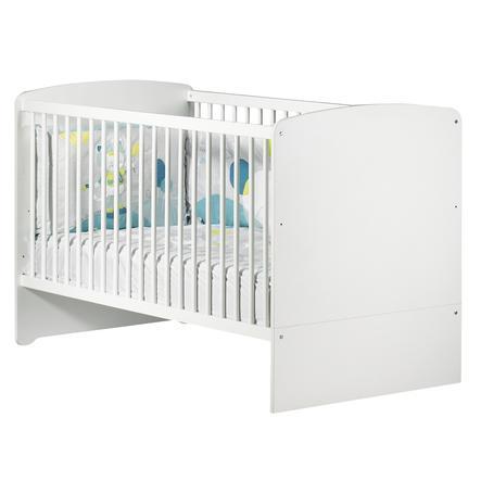 Baby Price Lit bébé évolutif New Basic Little Big Bed, 140x70 cm, blanc