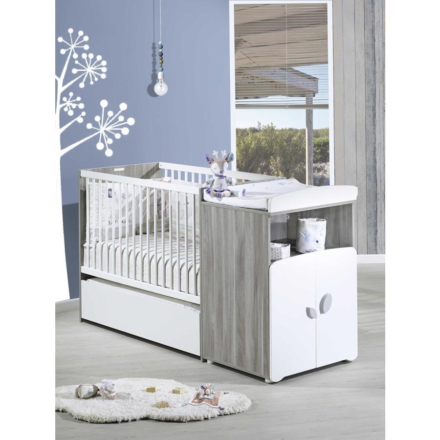 baby price lit b b combin volutif new leaf 120 x 60 cm. Black Bedroom Furniture Sets. Home Design Ideas