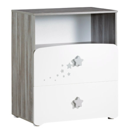 Baby Price Commode à langer New Nao, 2 tiroirs, 1 niche 76x66x97 cm