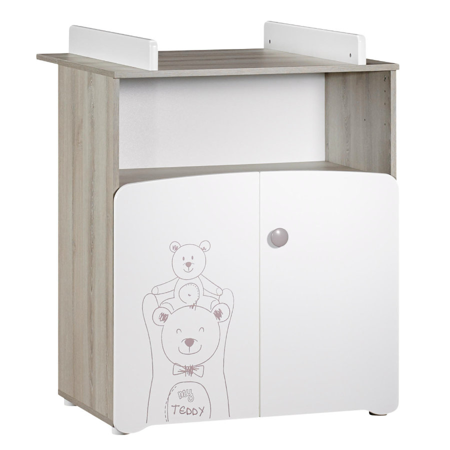 Baby Price Commode à langer Teddy 2 portes, 1 niche