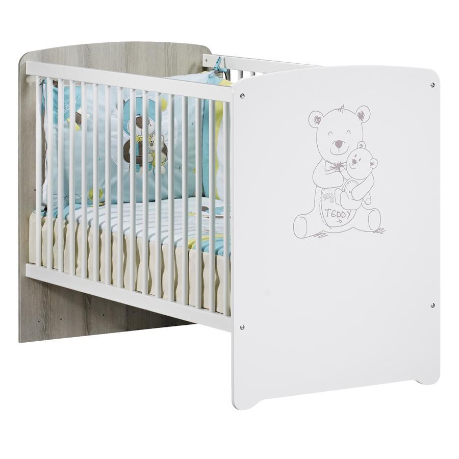 Baby Price Lit enfant à barreaux Teddy, 3 positions, 60x120 cm