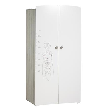 Armoire chambre bébé Teddy 2 portes