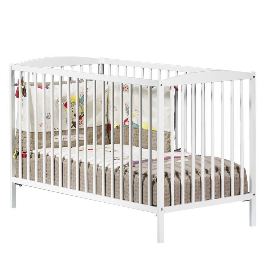 BABY PRICE Lit bébé à barreaux Winnie Floaty Day 3 positions, 60 x 120 cm, blanc