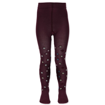 Steiff Girls Strumpfhose Punkte bordo