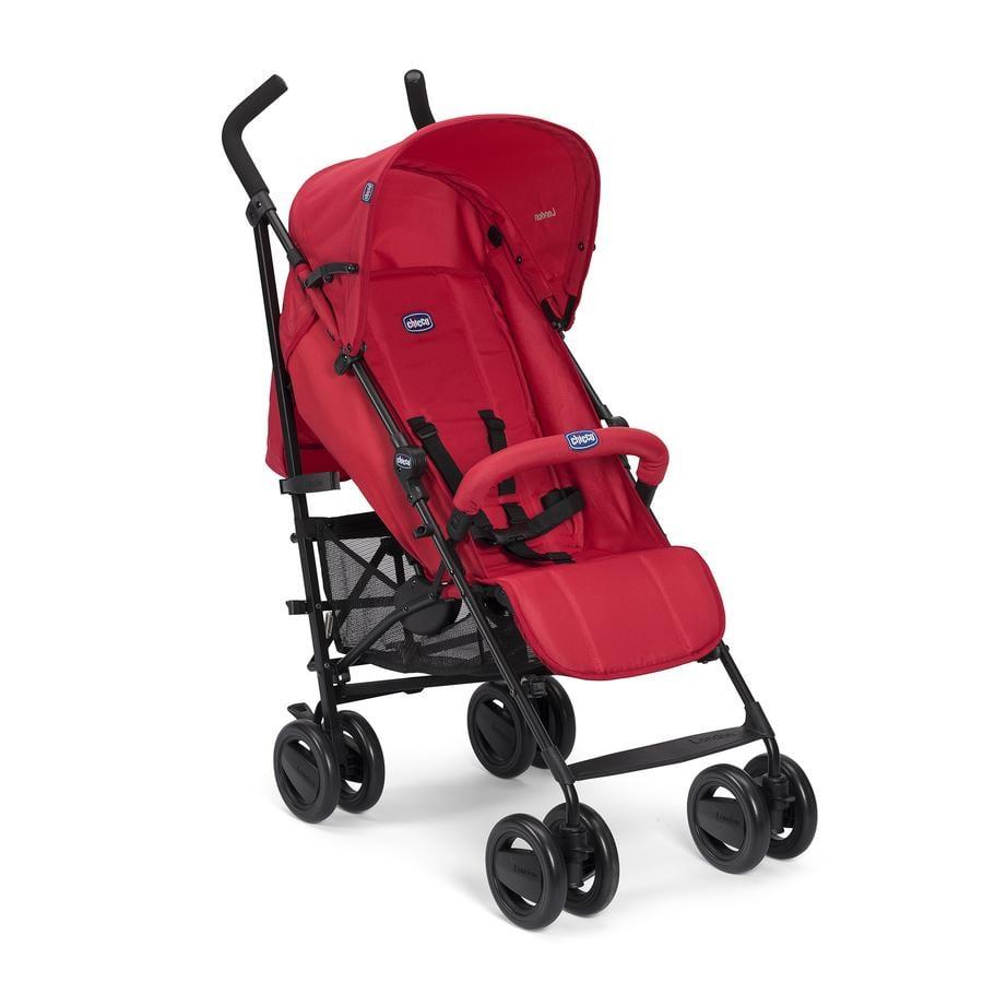 CHICCO Silla de paseo London Up Red Passion, barra de protección frontal incl.