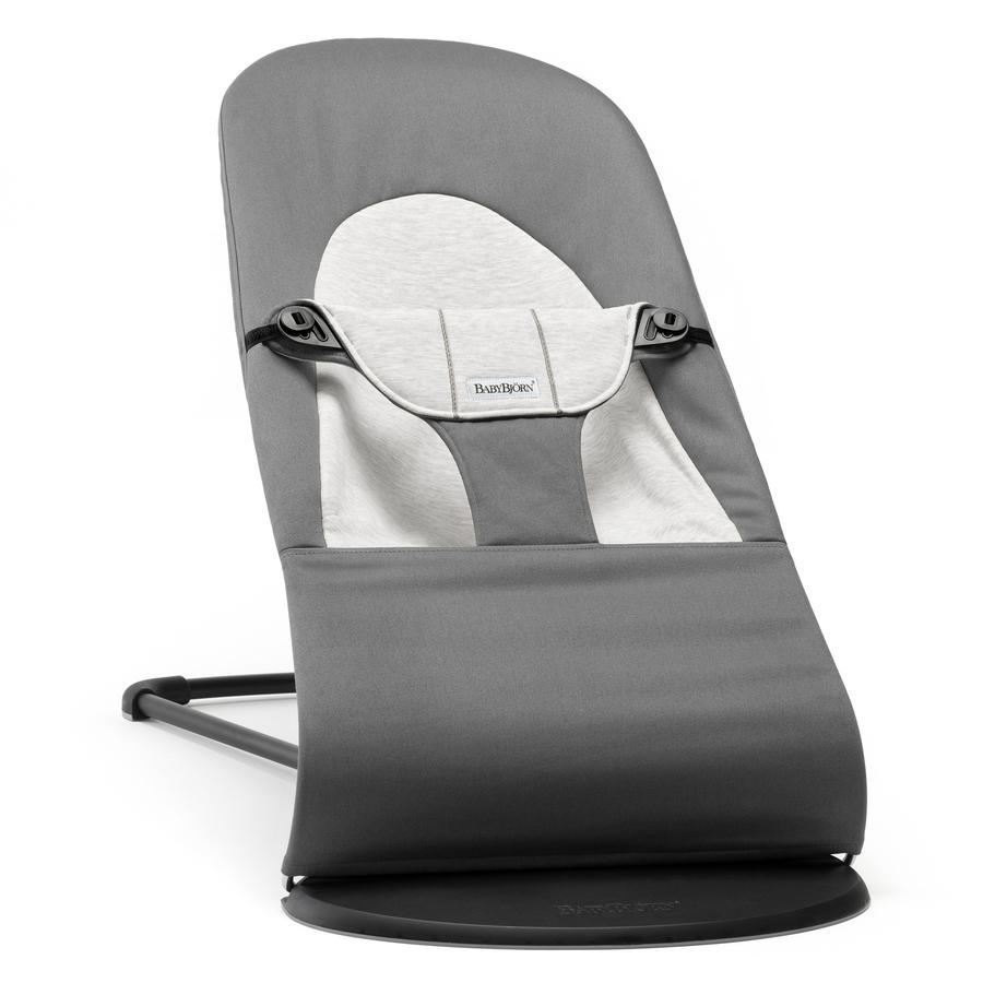BABYBJÖRN Leżaczek Balance Soft Cotton/Jersey ciemnoszary/szary Kolekcja 2016