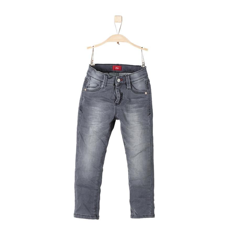 s.Oliver Boys Jeans en jean gris stretch régulier