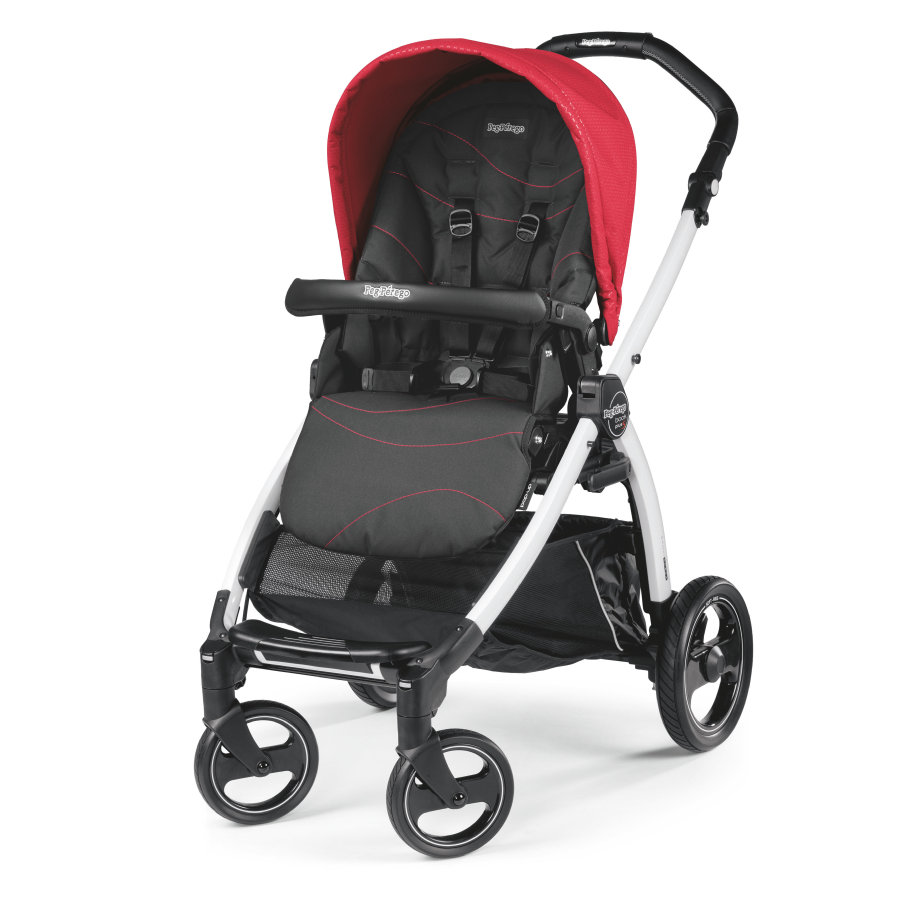 Peg-Perego Poussette 4 roues Book S blanc Sportivo Bloom rouge