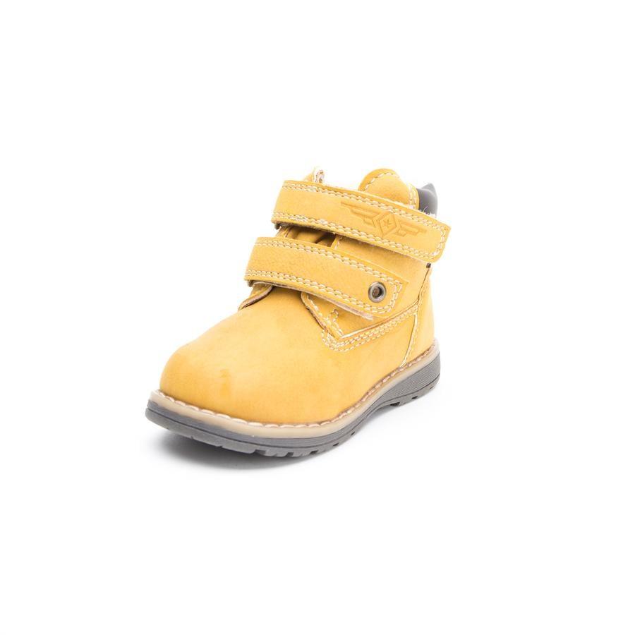 Wees Mega Boys Laarzen beige-geel van kleur.