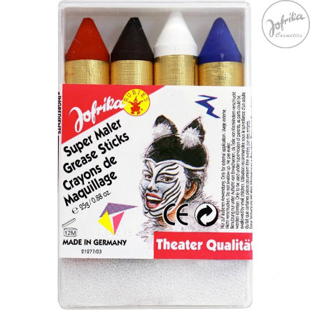 Jofrika Schminke Karneval Super Make-Up Sticks