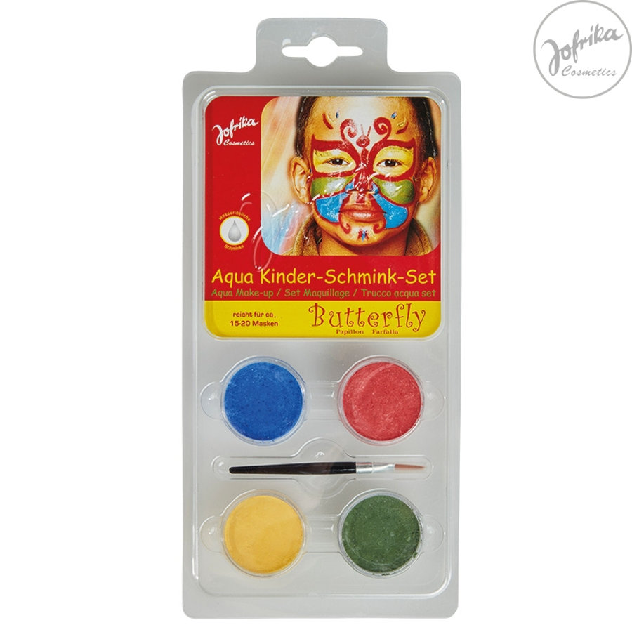 Jofrika Schminke Karneval Aqua Kids make-up Set Butterfly
