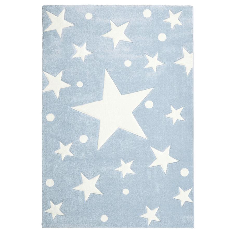 LIVONE Barnmatta Happy Rugs Stars blue 120 x 180 cm