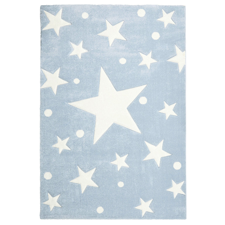 livone spiel und kinderteppich happy rugs stars blau 120 x 180 cm. Black Bedroom Furniture Sets. Home Design Ideas