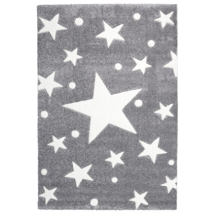 LIVONE Barnmatta Happy Rugs Stars silvergrå/vit  120 x 180 cm