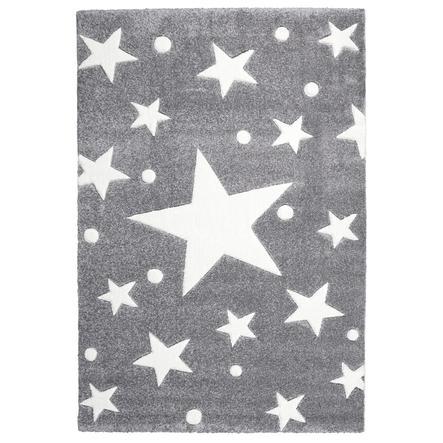 LIVONE Tapijt Happy Rugs Big Star zilvergrijs 120x 180 cm