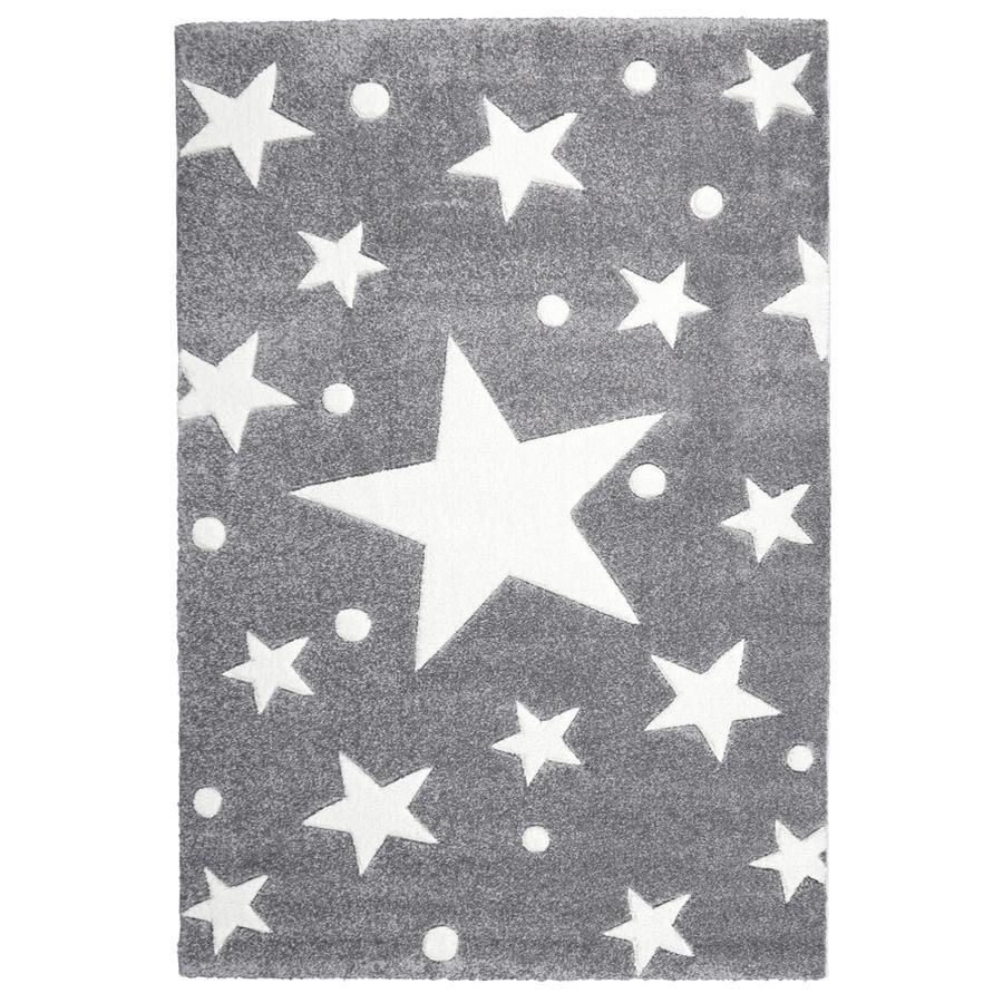 LIVONE Spiel- und Kinderteppich Happy Rugs Stars silbergrau/weiss 120 x 180 cm