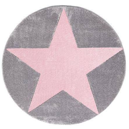 LIVONE Spiel- und Kinderteppich Happy Rugs Star silbergrau 160 cm rund