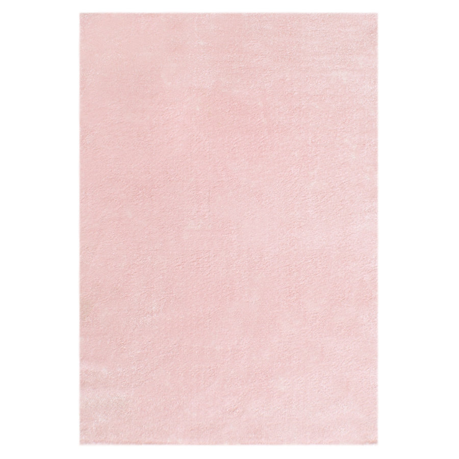 LIVONE Tapis enfant Happy Rugs uni rose 160 x 230 cm