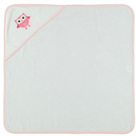 HAT &   CO-hupullinen kylpypyyhepöllö valkoinen 75 x 75 cm