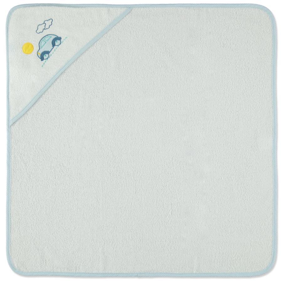 HAT & CO cappa asciugamano da bagno auto bianco 75 x 75 cm