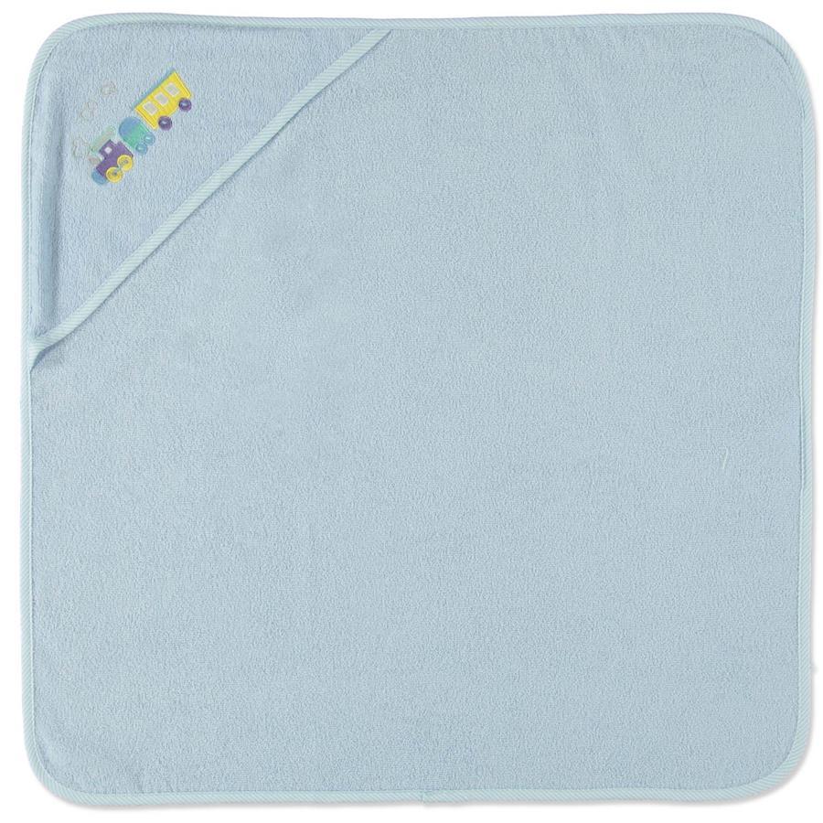 HAT & CO asciugamano da bagno con cappuccio ferroviario bleu 75 x 75 cm